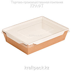 Контейнер, салатник с прозрачной крышкой 1000мл 200*140*55 (Eco Opsalad 1000) DoEco (50/150)
