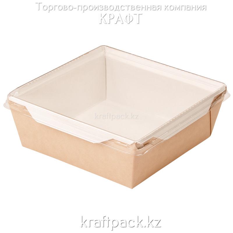 Контейнер, салатник с прозрачной крышкой 1200мл 145*145*65 (Eco Opsalad 1200) DoEco (50/150)