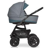Детская коляска RIKO ALFA BASIC 2 в 1 серый/бирюзовый, фото 1