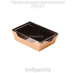 Контейнер, салатник с прозрачной крышкой  Black Edition 400мл 120*85*45 (Eco Opsalad 400 BE) DoEco (50/400)