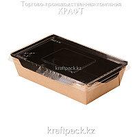 Контейнер, салатник с прозрачной крышкой Black Edition 800мл 186*106*55 (Eco Opsalad 800 BE) DoEco (50/200)