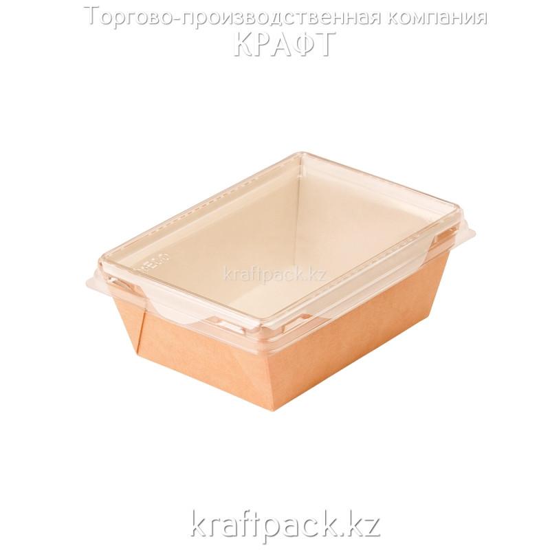 Контейнер, салатник с прозрачной крышкой 450мл 125*75*55 (Eco Opsalad 450) DoEco (50/400)
