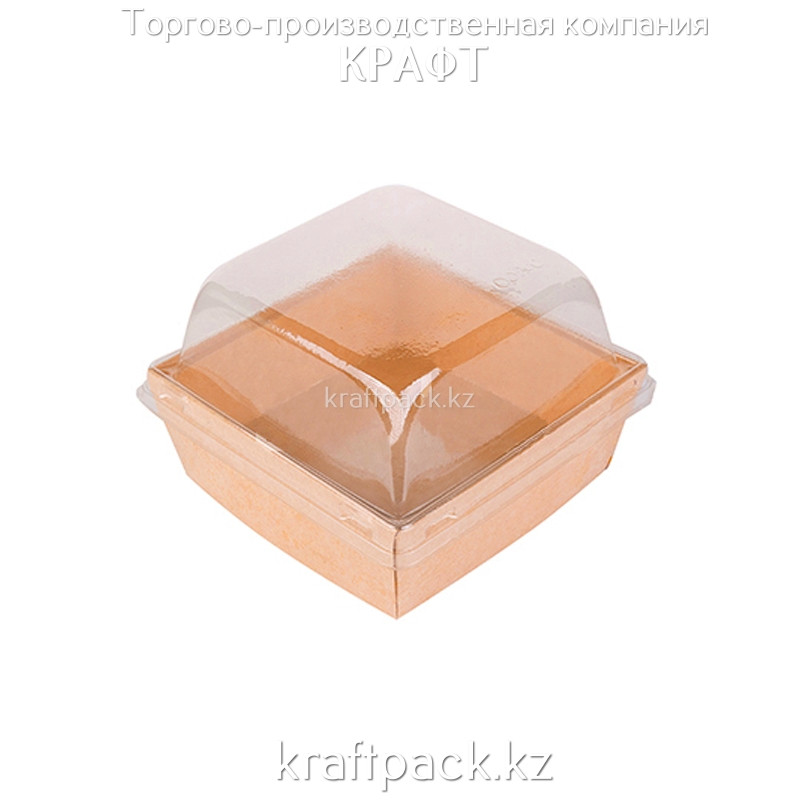 Контейнер с прозрачной крышкой ECO PRIZMA 550мл 110*110*90 (Eco Prizma 550) DoECO (50/250)