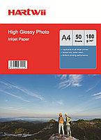 Фотобумага A4 для прин. 180 гр.Hartwii 50л глян.одн.