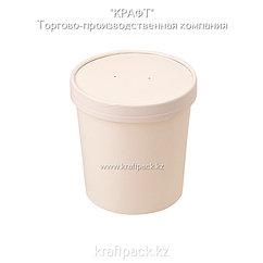 Упаковка для супов,каш,мороженного БЕЛАЯ с картонной крышкой 470мл (Eco Soup 16W) DoEco (25/250)