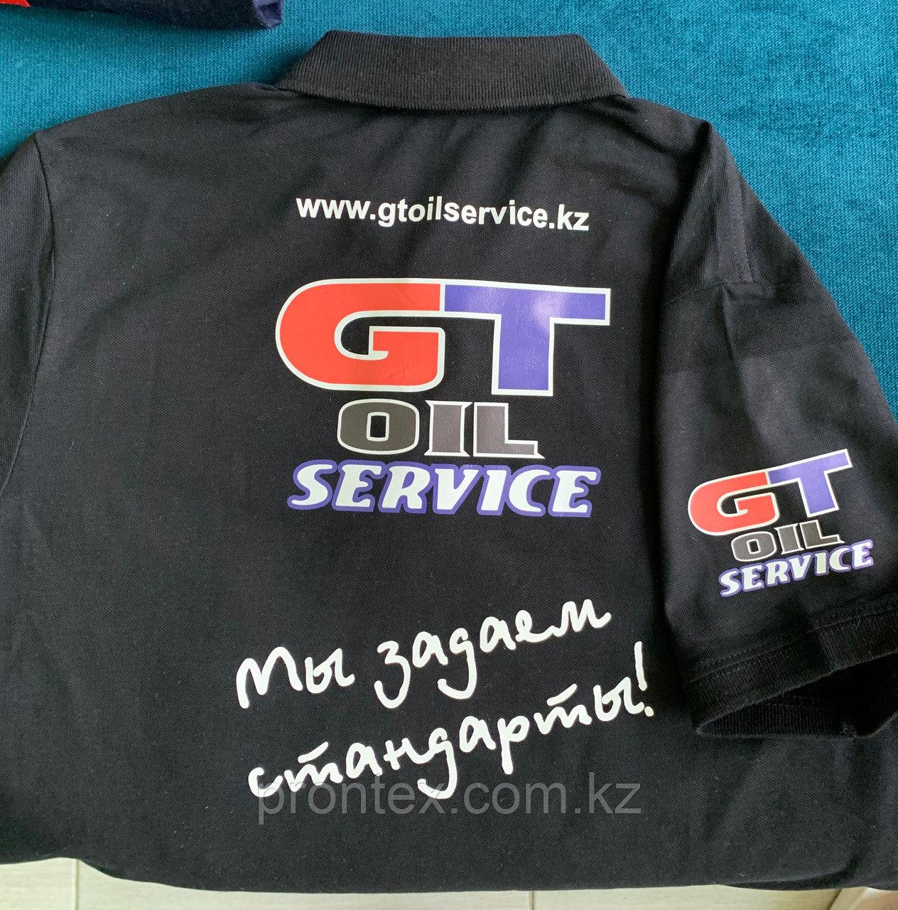 Нанесение логотипа методом печати на футболках