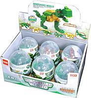 707 Динозавр конструктор в яйце 6 видов из 6 шт цена за 1 шт 8*6см, фото 1