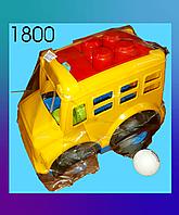 Инерционная машина, автобус, пластмассовая.