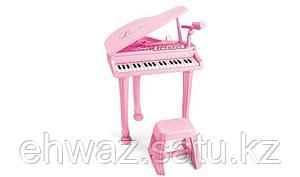 Детский рояль пианино с микрофоном и стульчиком