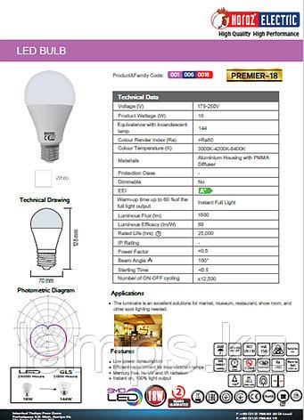 Светодиодная лампа LED PREMIER-18 18W 6400K, фото 2