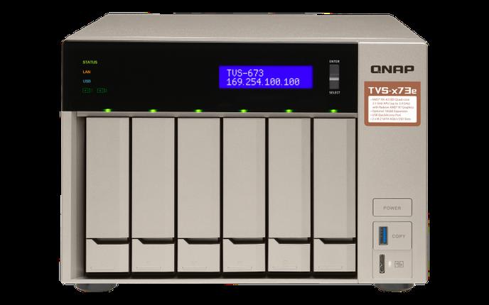 Сетевое хранилище QNAP TVS-673e-8G, фото 2
