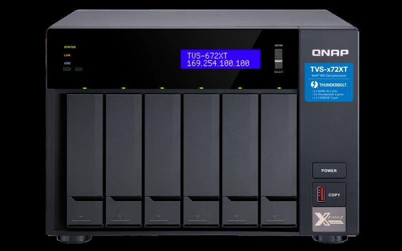 Сетевое хранилище QNAP TVS-672XT-i3-8G