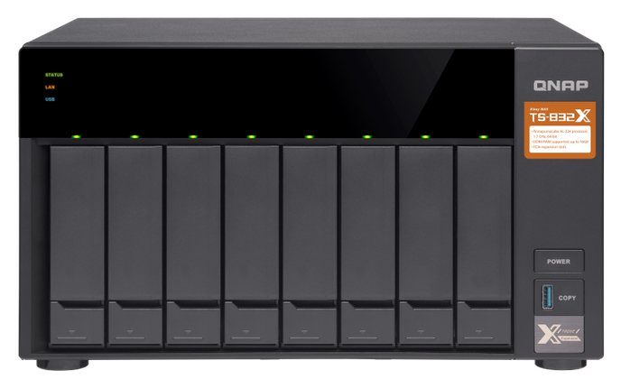 Сетевое хранилище QNAP TS-832X-2G, фото 2