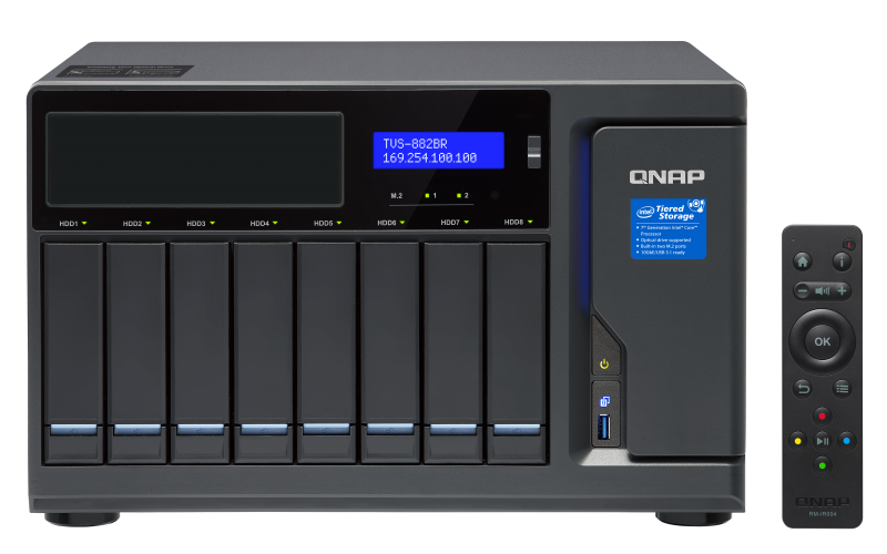 Сетевое хранилище QNAP TVS-882BR-I5-16G