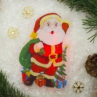 Световая картинка на присоске 'Дед Мороз приветствует!'(батарейки в комплекте), 1 LED, RGB