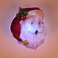 Световая картинка на присоске 'Дед Мороз'(батарейки в комплекте), оптоволокно, 1 LED, RGB