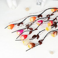 Декор ветка 'Цветочки с пыльцой и шариками' 150 см, микс