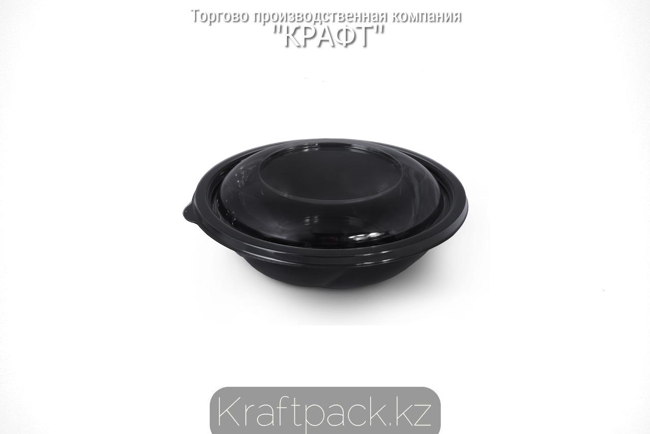 Емкость со стандартной крышкой СпК-190-750мл 189*54,5мм ПЭТ черная (75/300) ПолиЭр