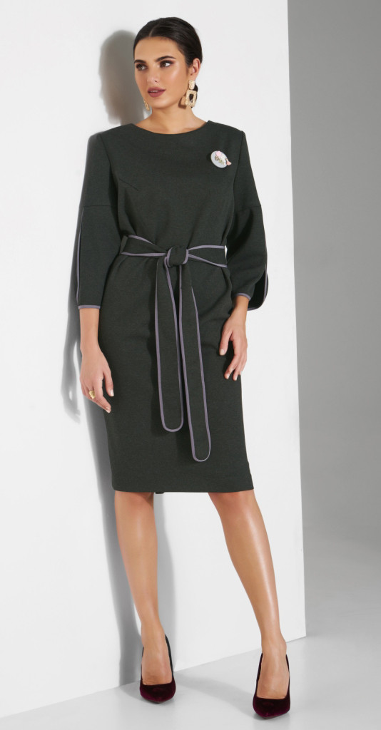 Платье Lissana-3804/1, хаки, 50