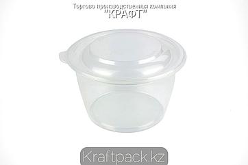 Контейнер круглый К-144 ПП - 750мл ПРОЗРАЧНЫЙ (50/300) ПолиЭр