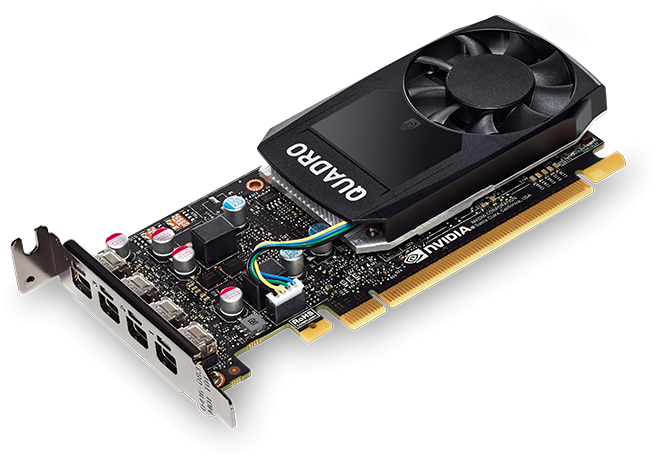 HP 3ME25AA Профессиональная видеокарта nVidia Quadro P620 HP PCI-E 2048Mb