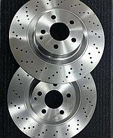 Перфорированные передние тормозные диски на s 221, фото 1