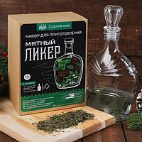 """Набор для приготовления напитка """"Мятный ликер"""", штоф 500 мл, специи, инструкция Наборы """"Сделай сам! Easy Start, фото 1"""