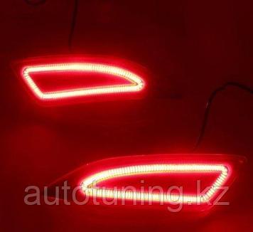 Катафот комплект LED (отражатель в задний бампер) на Toyota Camry 55  2014-2018
