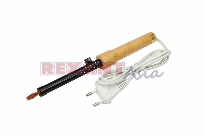 Паяльник ПД REXANT, 220 В/40 Вт, деревянная ручка, ЭПСН, (12-0240 )