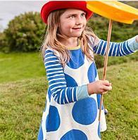 """Детское платье, """"Синие круги"""""""