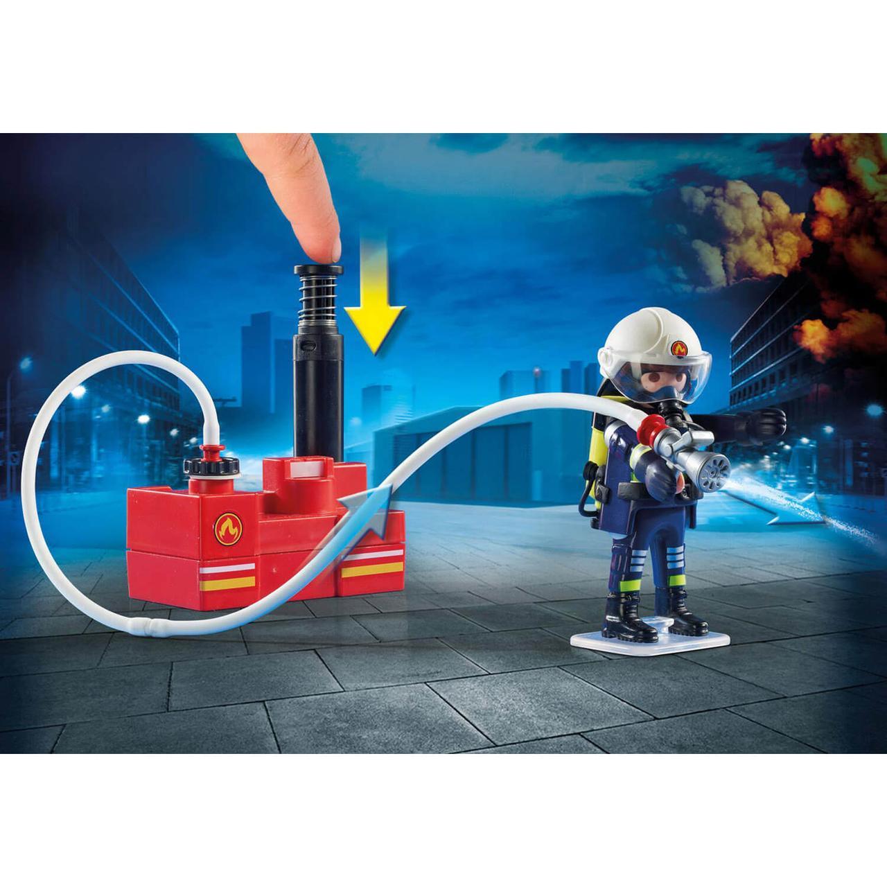 Конструктор Playmobil Пожарная служба: Пожарные с водяным насосом 9468 - фото 2