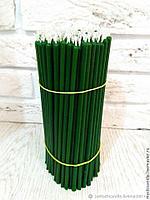 Свечи зеленые восковые церковные 18см