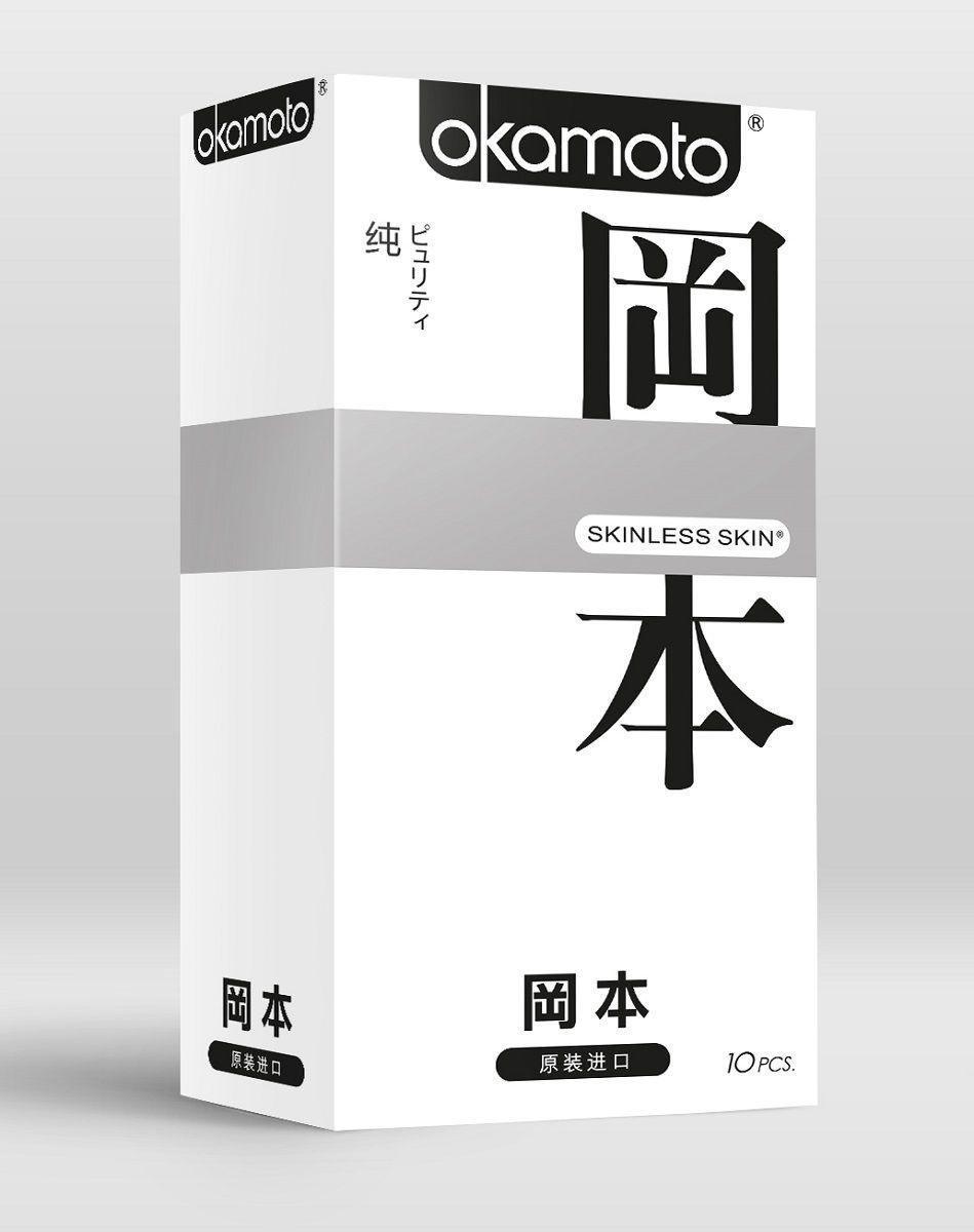 """Cверх-тонкие, сверх-чувствительные презервативы """"OKAMOTO SKINLESS SKIN"""", 10 штук"""