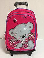 Школьный рюкзак на колесах для девочек с 1-го по 3-й класс.Высота 45 см, длина 30 см, ширина 21 см., фото 1
