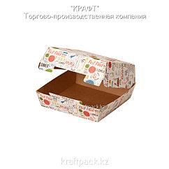 Упаковка для бургеров M 115*115*60 ENJOY (Eco Burger M Enjoy) DoEco (150)