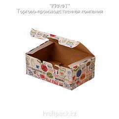 Упаковка для куриных крыльев, снеков и наггетсов 115*75*45 (Eco Fast Food Box S Enjoy) DoEco (25/300)