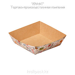Лоток для картофеля фри,хот-догов TRAY 550 ENJOY 110*110*42 (Eco Tray 550 Enjoy)  DoEco (300)