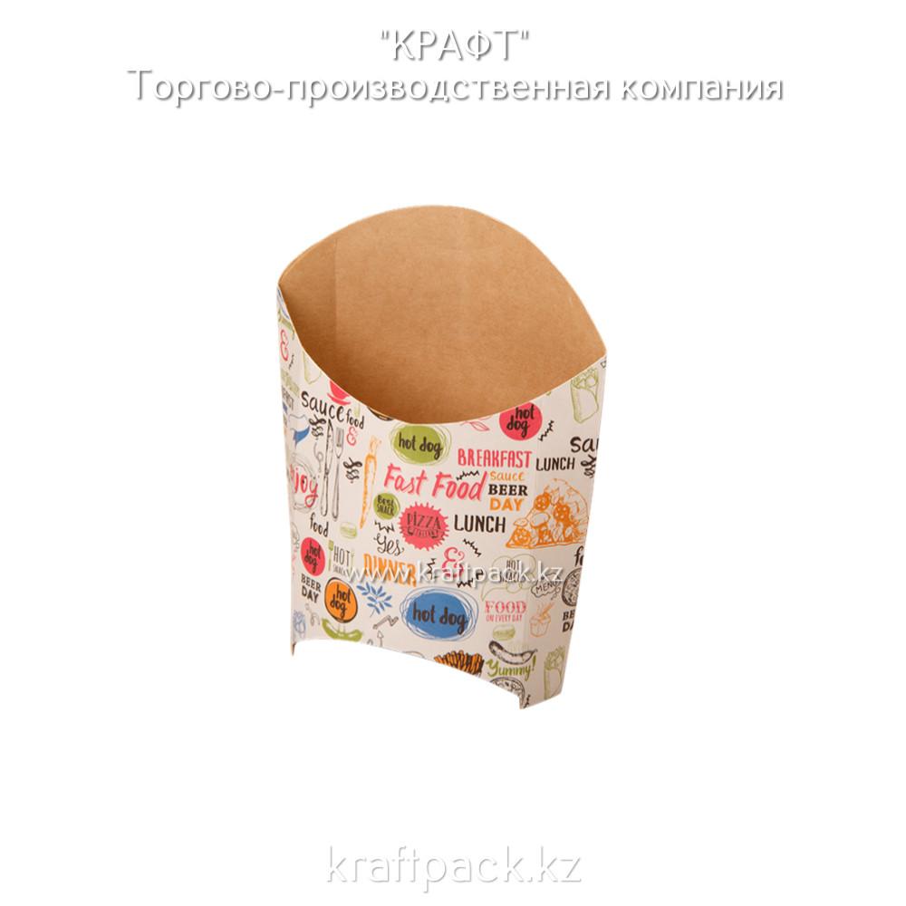 Упаковка для картофеля фри M ENJOY 105*50*110 (Eco Fry M Enjoy) DoEco (50/1000)