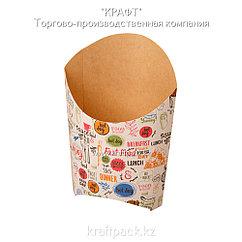 Упаковка для картофеля фри L ENJOY 126*50*135 (Eco Fry L Enjoy) DoEco (50/1000)