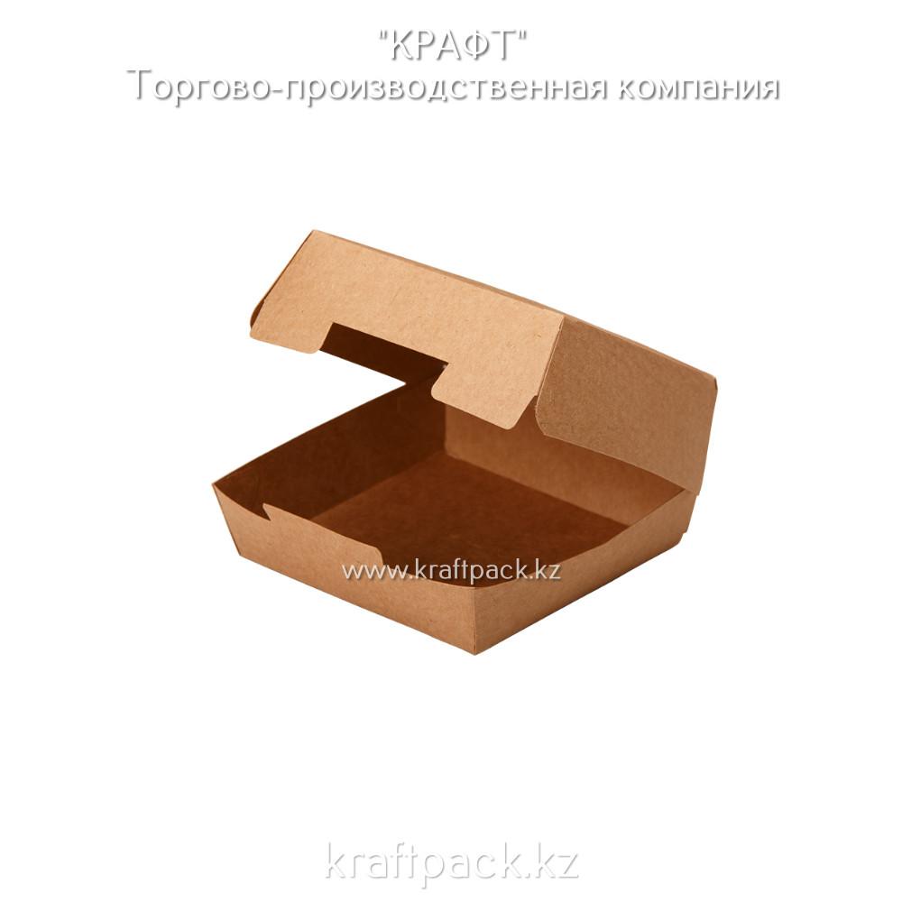 Упаковка для бургеров M Pure Kraft 115*115*60 (Eco Burger M PK) DoEco (150шт/уп)