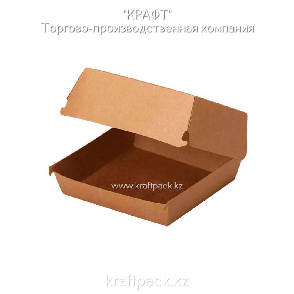 Упаковка для бургеров L 140*140*70 (Eco Burger L PK) DoEco Pure Kraft (150шт/уп)