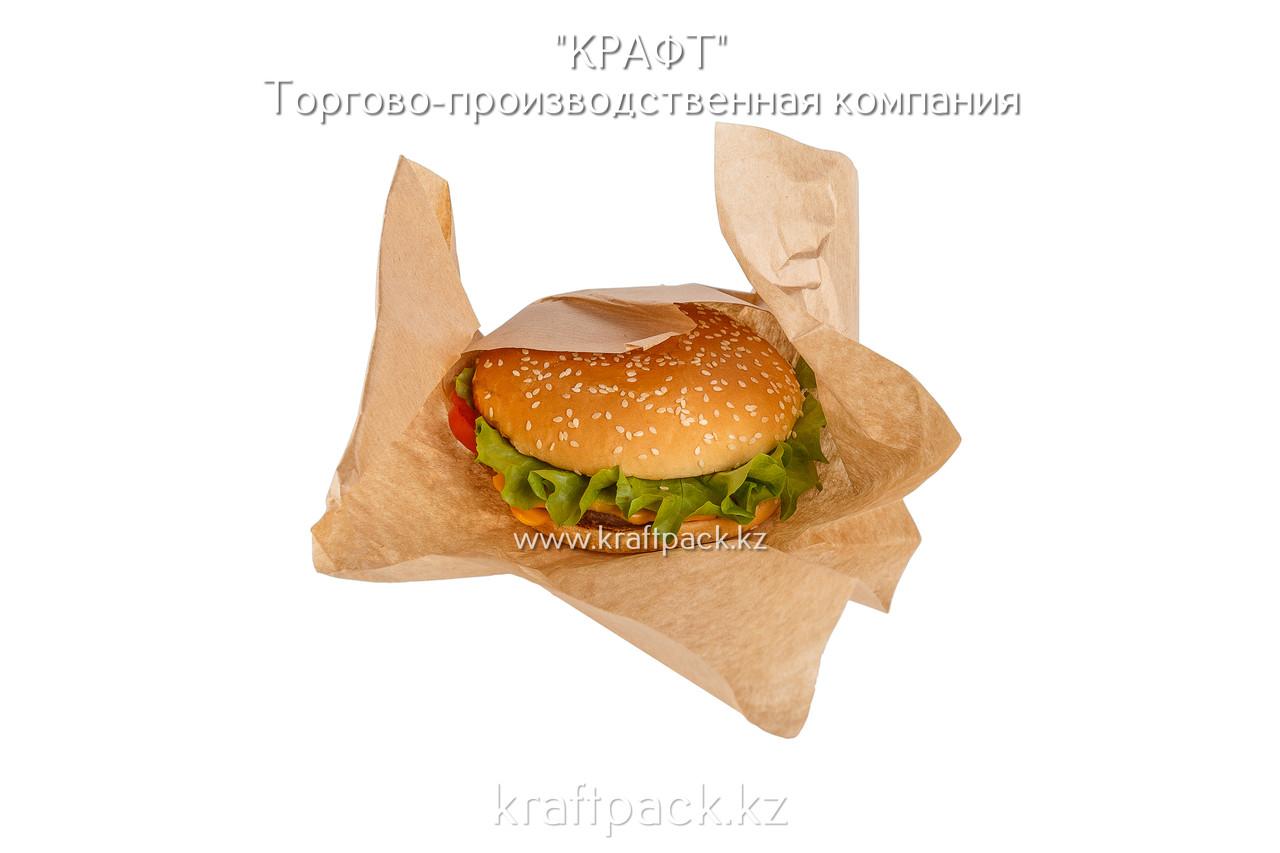 Оберточная бумага для фаст-фуда, крафт 40гр/м2 300*300мм (2000)