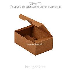 Упаковка для куриных крыльев, снеков и наггетсов S 115*75*45 (Eco Fast Food Box S PK) DoEco (25/300)