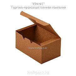 Упаковка для куриных крыльев, снеков и наггетсов L 150*91*70 (Eco Fast Foold Box L PK) DoEco (25/350)
