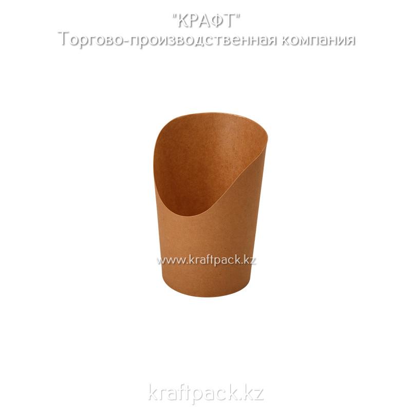 Упаковка для картофеля фри, снеков, поп корна,мороженного S 360мл (Eco Snak Cup S) DoEco (50/1000)