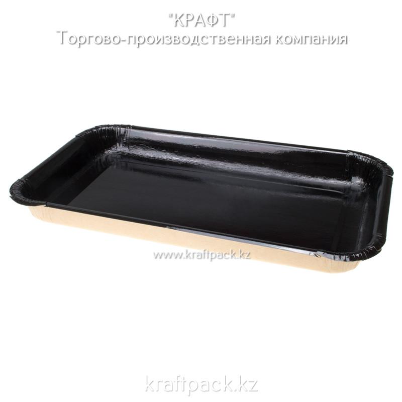 Лоток для кулинарии, сервировки и фасовки нарезок, овощей BLACK 200*110 (Eco Platter 400) DoEco (300)