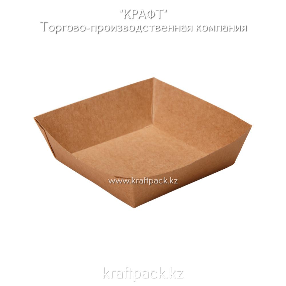 Лоток для картофеля фри,хот-догов 110*110*42 (Eco Tray 550 PK) DoEco(300)