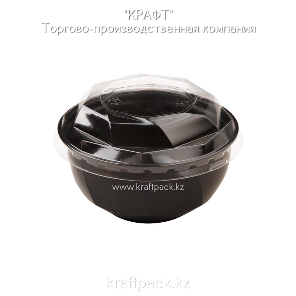 Креманка черная для десертов с крышкой «КД-117» 110*45*200 DoEco (100/1000)