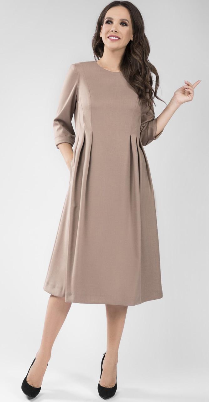 Платье TEFFI style-1436/2, капучино, 56