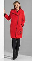 Пальто Lissana-3835, красный, 52 54, Полиэстер,Шерсть, красный